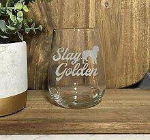 Stay Golden Doodle Weinglas ohne Stiel,