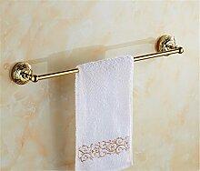 STAZSX Antique Rose Gold Farbe vergoldet Bad-Accessoires Handtuchhalter Handtuchhalter Europaweite Kupfermetall Anhänger-Sets, Gold einzigen Schuss