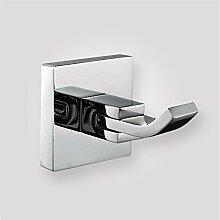 STAZSX Bad Bad Kupfer Quadratur Mantel Haken Handtuch Haken Kleiderhaken, Bad-Accessoires, Nickel plated Haken