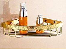 STAZSX BadezimmerRegalBadRegalToiletteStativ,Bad-Accessoires,einschichtigegold