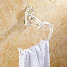 STAZSX Barker Gold Handtuchring Handtuchhalter Handtuch hängenden Ring europäischen Handtuchhalter Ringring Handtuchhalter, Absatz Blumenkrone