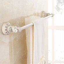 STAZSX Continental weiße Farbe und Goldhandtuchhalter Bad Handtuchhalter Metall-Anhänger Bad WC-Accessoires Regale, ein einziger Schuss