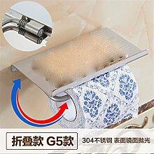 STAZSX Kontinentale antikes Papier Handtuch Rack Sanitär bin Toilettenpapier rack Toilette Tablett Handy Handtuch Toilettenbox, Spiegel Falten Abschnitt G5