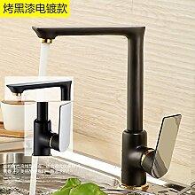 STAZSX Kontinentale Messing Waschbecken Wasserhahn Wasserhahn für warmes und kaltes einzelnes Loch Küchenarmatur Spüle indoor Wasserhähne, A4