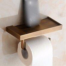 STAZSX Kupfer Gewebe rack-Box Antik wasserdichte Tuch Hand Fach Rack Kreativpapiere WC Sanitär, Gewebe rack