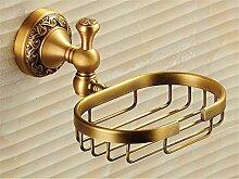 STAZSX Schwarz Kupfer Seife Korb Seife Teller Bad Accessoires Seife Box Seife Regal lokalen Hotel continental gold Badezimmerwand, antiken Farbe
