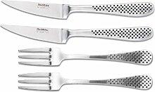 Steakbesteck Set - 2 Messer 2 Gabeln - Global