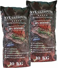 STEAKHOUSE Premium Grillkohle 2x10kg aus 100%