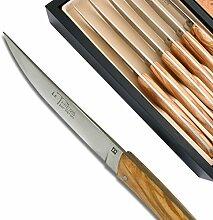 Steakmesser aus Olivenholz, 6 Stück