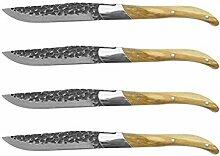Steakmesser Set Black Hammer Blade Abendessen