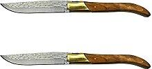 Steakmesser Set Edelstahl Tischmesser Olivenholz