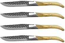 Steakmesser Steakmesser Set Schwarzer Hammerklinge