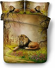 Steakside Tiger und Jungle Lion 3D Gesteppter Satz