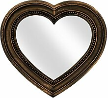 StealStreet Antik Bronze Herzform Spiegel