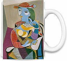 Steated Woman Picasso Painting Kaffee Becher