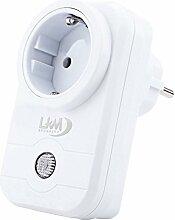 Stecker WiFi LKM Security mit Kostenlose APP für die Fernverwaltung geeignet für Smart Home, Möglichkeit von Kontrolle Strom A Abstand