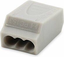 Steckklemme 3-Polig grau 10 Stück UW40GY-U