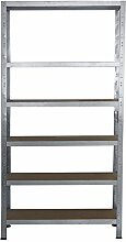Steckregal 200x90x60 cm verzinkt 6 Böden Kellerregal Metallregal Regal Regalsysteme Lagerregal