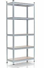Steckregal 90x40x180-weiß