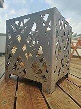 Steelbutze | Design Feuerkorb Cube Confused | Aus