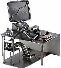 Steelman24 I Schraubenmännchen Pc-Schlafend I Made in Germany I Handarbeit I Geschenkidee I Stahlfigur I Metallfigur I Metallmännchen
