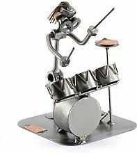 Steelman24 I Schraubenmännchen Schlagzeug I Made in Germany I Handarbeit I Geschenkidee I Stahlfigur I Metallfigur I Metallmännchen