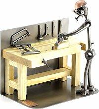 Steelman24 I Schraubenmännchen Tischler Mit Persönlicher Gravur I Made in Germany I Handarbeit I Geschenkidee I Stahlfigur I Metallfigur