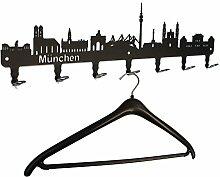 steelprint.de Wandgarderobe München Skyline -