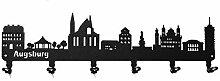 steelprint.de Wandgarderobe - Skyline Augsburg -