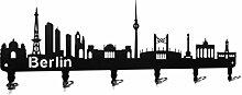 steelprint.de Wandgarderobe - Skyline Berlin -