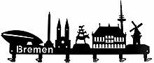 steelprint.de Wandgarderobe - Skyline Bremen -