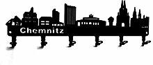 steelprint.de Wandgarderobe - Skyline Chemnitz -