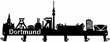 steelprint.de Wandgarderobe - Skyline Dortmund -