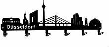 steelprint.de Wandgarderobe - Skyline Düsseldorf