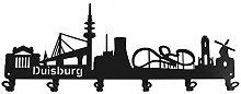 steelprint.de Wandgarderobe - Skyline Duisburg -