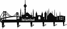 steelprint.de Wandgarderobe - Skyline Istanbul -