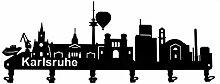 steelprint.de Wandgarderobe - Skyline Karlsruhe -
