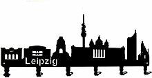 steelprint.de Wandgarderobe - Skyline Leipzig -