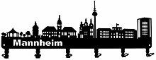 steelprint.de Wandgarderobe - Skyline Mannheim -