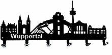 steelprint.de Wandgarderobe - Skyline Wuppertal -