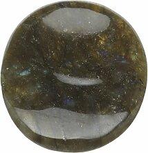 steengoed Labradorit Handschmeichler, Stein, grün