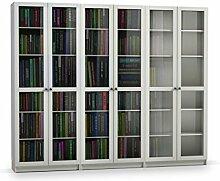 Steens Anette Bücherwand, mit 6 Glastüren, 240 x
