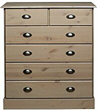 Steens Furniture 3400130069000F Kommode Nola, 91 x 82 x 38 cm, Kiefer massiv, grau
