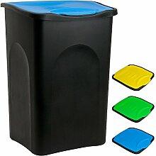 Stefanplast® Mülleimer 50L mit Klappdeckel