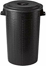STEFANPLAST Schwarz polythene Mülltonne mit