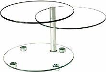 Stegert-Design 32134-M Couchtisch, Glas, Klarglas,