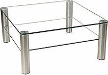 Stegert-Design 42224-M Couchtisch, Glas, Klarglas,