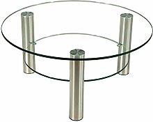 Stegert-Design 42234-M Couchtisch, Glas, Klarglas,
