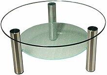 Stegert-Design 422346-M Couchtisch Glas Klarglas