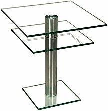 Stegert-Design 42824-M Couchtisch, Glas, Klarglas,